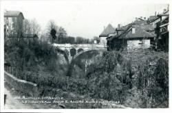 Rumilly Hte-Savoie : Le nouveau pont E. André sur la Néphaz.