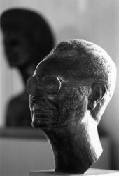 """[Archives municipales de Lyon. Exposition """"Charles Machet, sculpteur lyonnais""""]"""