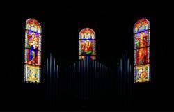 Vitraux de l'abside, église Saint-Roch, Grézieu-la-Varenne