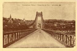 Vernaison (Rhône) : Perspective du Pont.