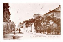 Villeurbanne (Rhône) : Rue de la Gare.