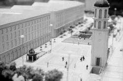 [Lyon 2010. Maquette pour le projet de réaménagement de la place Antonin-Poncet (Ch. Delfante, architecte)]