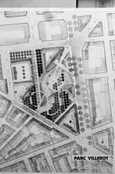 [Lyon 2010. Plan pour le projet de parc paysager de la ZAC Villeroy (Ch. Delfante, architecte-urbaniste)]