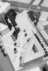 [Lyon 2010. Maquette pour le projet de parc paysager de la ZAC Villeroy (Ch. Delfante, architecte-urbaniste)]