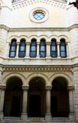 Grande synagogue de Lyon, quai Tilsitt, façade