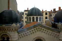 Grande synagogue de Lyon, quai Tilsitt, toits