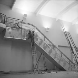Installation d'un escalator au Palais de la foire de Lyon