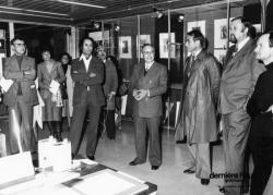 """[Bibliothèque municipale de Lyon. Inauguration de l'exposition """"La Gravure et ses techniques""""]"""