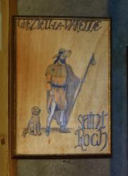 [Représentation de Saint Roch, église Saint-Roch, Grézieu-la-Varenne]