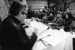 [Procès Klaus Barbie : conférence de presse autour d'une documentation sur la rafle de la rue Sainte-Catherine]