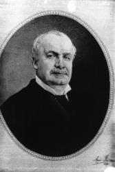 [Portrait tissé sur soie d'Edouard Aynard (1837-1913)]
