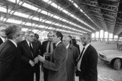 [Emile Biasini, secrétaire d'Etat aux Grands travaux, en visite à Lyon]