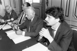 [Octobre des arts (1987) : conférence de presse avec Thierry Raspail]