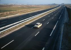 [L'autoroute A43 à Saint-Priest]