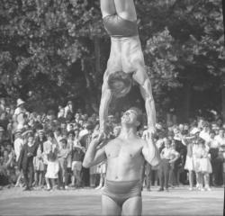 Démonstration de Gymnastique et de Judo par les Pompiers