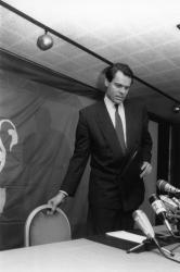 [Campagne pour les élections municipales de 1989. Conférence de presse pour la candidature de Michel Noir]