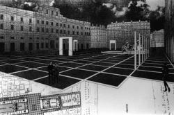 [Ville de Lyon. Exposition des projets pour l'aménagement de la place des Terreaux (projet Buren-Drevet)]