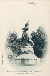 Le monument du Centenaire de la réunion de la Savoie à la France