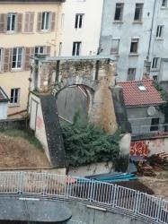 Vestige de la Porte Neuve, ou Porte Saint-Sébastien, Lyon 4e