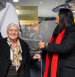 Inauguration de la plaque en hommage à René Waldmann, à la station de métro Croix-Rousse
