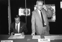 [Conférence de presse pour la 72e Foire internationale de Lyon (1990)]