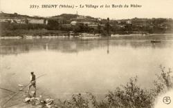 Irigny (Rhône). - Le village et les bords du Rhône