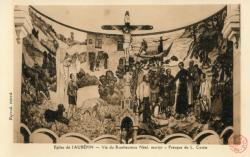 Eglise de L'Aubépin. - Vie du bienheureux Néel, martyr. - Fresque de L. Cottin