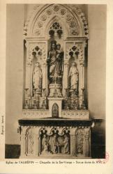 Eglise de L'Aubépin. - Chapelle de la Ste-Vierge. - Statue dorée du XVIe s.