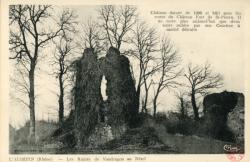 L'Aubépin (Rhône). - Les Ruines de Vaudragon au Nézel