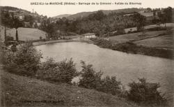 Grézieu-le-Marché (Rhône). - Barrage de la Gimond. - Vallée du Biternay