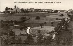 Grézieu-le-Marché (Rhône). - Vue générale prise du coteau de Pomeys