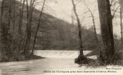 Chute de l'Azergues près Gare Grandris-Allières (Rhône)