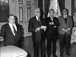 [Voeux du maire de Lyon à la presse pour 1987]