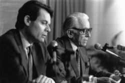[Elections municipales de 1989. Conférence de presse des listes d'union RPR-UDF]
