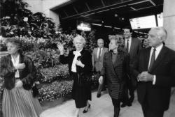 [Election présidentielle de 1988. Bernadette Chirac en visite dans la région lyonnaise]