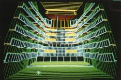 [Opéra national de Lyon (version Jean Nouvel). Simulation par ordinateur de la salle]