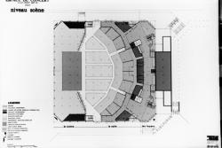 [Plans et dessins pour l'Espace de concert de l'agglomération lyonnaise, dit Zénith de Chassieu (Curtelin et Ricard, architectes)]