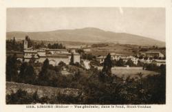 Lissieu (Rhône). - Vue générale ; dans le fond, Mont-Verdun