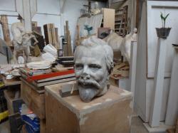 Tête en marbre de Jules Coste-Labaume vandalisée