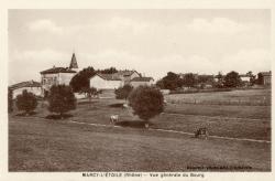 Marcy-l'Etoile (Rhône). - Vue générale du bourg