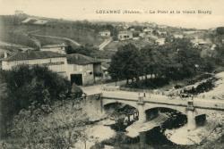 Lozanne (Rhône). - Le Pont et le vieux bourg