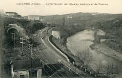 Lozanne (Rhône). - L'Arrivée par les voies de Lamure et de Roanne