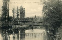 Lozanne (Rhône). - La Passerelle sur l'Azergues