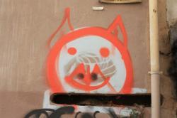 Tag, rue Capponi, Lyon 1er
