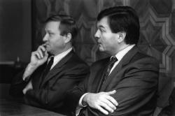 [Campagne pour les élections régionales de 1992. Conférence de presse de l'UDF]