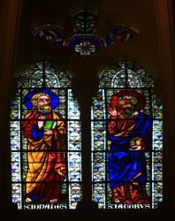 Choeur, vitrail, cathédrale Saint-Jean-Baptiste, Lyon 5e
