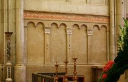 Choeur, bande lombarde, cathédrale Saint-Jean-Baptiste, Lyon 5e
