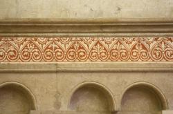 Choeur, frise, cathédrale Saint-Jean-Baptiste, Lyon 5e