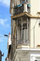 Balcon angle rue Montesquieu et rue Cavenne, Lyon 7e