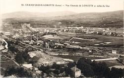 La Grand-Croix (Loire) : Vue générale de Lorette et vallée du Gier